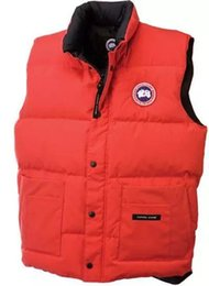 Wholesale Canada Parka Down Men - free shipping 2017 man Canada New Arrival Sale Men's Guse Chateau Black Navy Gray Down vest Winter Coat Parka Sale With Outlet c-07