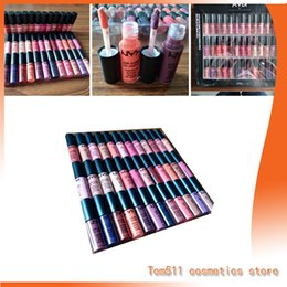 Wholesale Soft Velvet Suit - NYX soft leather oil emulsion nyx 36PCS suit lipstick lip gloss matte no fade Sofe velvet lipstick make up 36 colors