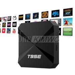 mx amlogique Promotion T95E Android TV BOX Android 5.1 RK3229 Quad Core 32bit TV Box 1 Go / 8 Go wifi 2.4GHz prise en charge 4K HD