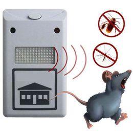 Controle eletrônico de baratas on-line-NOVA RIDDEX eletrônico pest repeller repelente de pragas aid ultra-sônica / eletromagnética Anti Mosquito Mouse Inseto Barata Controle