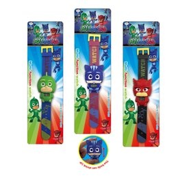 Wholesale action figure packaging - Children's Pj Cartoon Catboy Party Watch Gekko Cloak Masks Characters Action Figure Toys Boy Birthday Gift With Retail Package