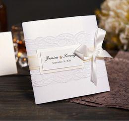 Custom wedding invitation cards nz buy new custom wedding custom wedding invitation cards nz wholesale elegant lace wedding invitations with pearl ribbon stopboris Image collections