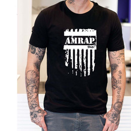 Wholesale Trendy Men Shirts - Trendy Fashion Amrap T Shirts Men This Crossfit Man t shirt Casual O Neck Mens Tops Short Sleeve Tees