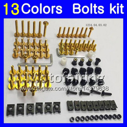 Wholesale Honda Cbr F2 Fairings - Fairing bolts full screw kit For HONDA CBR600F2 91 92 93 94 CBR600 F2 CBR 600 F2 1991 1992 1993 1994 Body Nuts screws nut bolt kit 13Colors