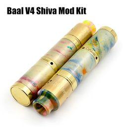 Wholesale mechanical mod free - 2017 Baal V4 18650 mechanical Mod Kit baal v4 rda with shiva resin mod kit resin drip cap 24mm Vapor Mod DHL Free