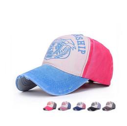 Wholesale Hit Hat - Hot sale Letter hat fashion hit color tide cap spring ladies baseball hat couple sun hat SMB058