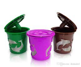 Wholesale Wholesale Capsule Machines - 6pcs set Keuring Refillable coffee Capsule Reusable K-cup Filter for 2.0 & 1.0 Brewers k cup reusable for Keurig machine