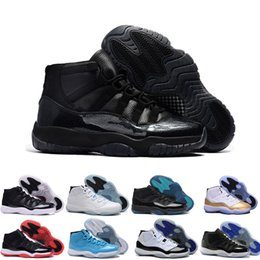 Wholesale Womens High Snow Boots - Air retro 11 XI Mens Basketball Shoes bred space jam concord 72-10 legend blue Pantone retro 11s high quality sports shoes womens sneakers