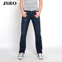 Wholesale Chinese Fashion Jeans - JSEO Men Regular Fit Straight Leg Jean Modern Series Demin Pants Relaxed Pocket Jean Fashion Skinny Fit Jeans Classic