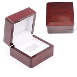 Wholesale Championship Boxing - Rings Boxes Gift Boxes Championship Ring Jewelry Boxes Wooden Box 6.6*6.6*4.5cm