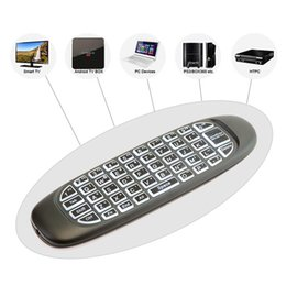 Wholesale Mini Mouse Color - Mini G64 2.4Ghz Wireless Keyboard bulit in rechargeable battery Air Mouse Remote Controller Game Keyboard Backlight White color