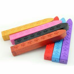 Уплотнительные восковые палочки онлайн-Традиционная ручка запечатывания воска для конверта свечи уплотнения печати писем плавя