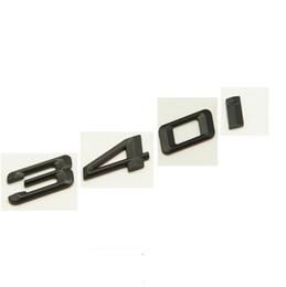 """Wholesale Bmw 535i - Black """" 340 i """" Number Trunk Letters Emblem Badge Sticker for BMW 3 Series 340i"""