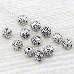 Wholesale European Beads Silver Spacers - MIC 100pcs Antique silver alloy exquisite Spacer Beads 7.5x8mm fits European Style Charm Bracelet Necklace D31