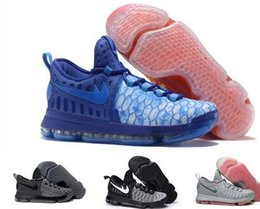 Wholesale Kds For Cheap - 2017 New KD9 What the KD 9 Fire & Ice Basketball Shoes Men Cheap Kds Kevin Durant 9 Sneakers For Sale Size 7-12