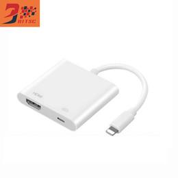 Wholesale Av Cable Box - SZBITC High Quality Lightning to AV HDMI HDTV TV Digital cable adapter for iphone 5 5S 6 6S 7 7s 8