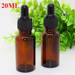 Wholesale online bottle - Online shopping 20ml Empty Glass Esential Oil Bottle Wholesale with ChildPoof Cap glass Dropper Bottles 20 ml