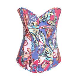 Wholesale Push Up Lingerie Corset - Women's Push Up Boned Floral Lingerie Overbust Corset Clubwear 846