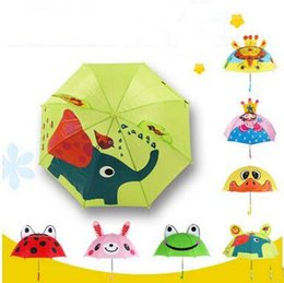 Wholesale Wholesale Animal Umbrellas - New Arrival 18 Inch Animal Kids Umbrellas Cute Princess Girls Boys Portable Small Umbrellas High Quality Parasol For Age 2-6
