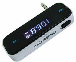 2019 a8 hud Reproductor de audio inalámbrico estéreo LCD de 3.5mm para automóvil en el automóvil Reproductor de audio inalámbrico para iPhone 5 Samsung S6 HTC LG MP3 MP4 iPod Touch