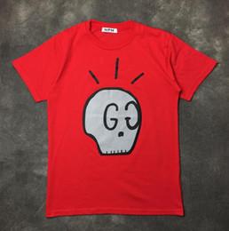 Wholesale Skull Shirts Mens - 2017 Wholesale clothing skull Men's T-Shirts G and G hip hop clothing mens designer shirts plus size black white red