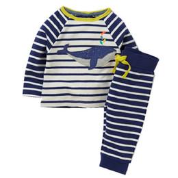 Wholesale Suits Baby Sports Pants - Boys Clothing Set Children's Sports Suits Kids Fashion 2017 Brand Autumn Baby Boy Clothes Animal Applique Tops+Pants Outfits