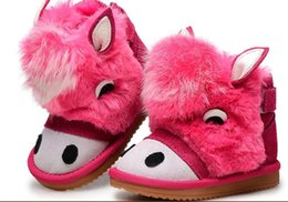 Wholesale New Kids Bebe - little girls snow boots leather suede boys ankle shoes winter footwear for baby kids zapato bebe sapatos chaussure new SandQ baby