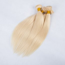 Wholesale Platinum Color Hair Extensions - 613 Blonde Virgin Hair Brazilian Straight Human Hair Bundles 4Pcs 8A Platinum Blonde Brazilian Virgin Hair Straight Extensions.