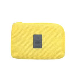 Wholesale Cable Travel Pack - Wholesale- Hot New Travel Data Cable Charger Cosmetic Travel Bag Mobile Power Pack Pouch Bag