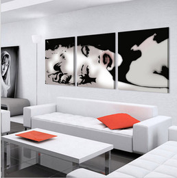 Wholesale Modern Figure Sexy Abstract - 3 Panel Modern Oil Painting Home Decorative Art Picture Paint On Canvas Paints Painting Sexy Marilyn Monroe Wall Paintings