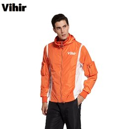 Wholesale Mens Waterproof Hiking Jacket - Vihir Mens Outdoor Jacket Mountaineering Windbreaker Waterproof Men Sports Jacket Self Design Fashion Zipper Hoodie Plus Size 3XL