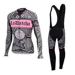 Wholesale Saxo Bank Women - Cycling jersey women 2016 tinkoff saxo bank long sleeve cycling clothing black white pink ropa ciclismo mujer mtb bicicleta
