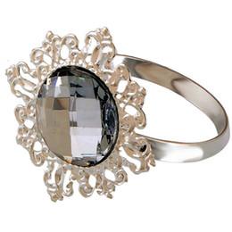 Wholesale Diamond Napkin Holders - Wholesale- Diamond Napkin Ring for Table Kitchen Serviette Holder Wedding Banquet Dinner Christmas Decor Favor Hot 12pcs