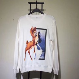 Wholesale Modal Photos - 2017.8.4 sqq real photos Classic fashion new top quality deerl print ong sleeve men and women causal hoody