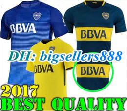Wholesale Boca Juniors - TOP QUALITY 17 18 Boca Juniors Soccer Jersey Home Away 3RD 2017 2018 Boca Juniors GAGO OSVALDO CARLITOS PEREZ P Football shirts