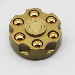 Scatola di ferro in alluminio online-Il nuovo dito della lega di alluminio della testata della ruota di sinistra con il giroscopio del dito di decompressione della girobussola del pacchetto della scatola del ferro libera il trasporto
