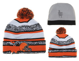 Wholesale Sports Team Beanies - new style Cleveland Football Beanies Team Hat Winter hat Popular browns Beanie Caps Skull Caps Best Quality Women Men Warm Sports Caps