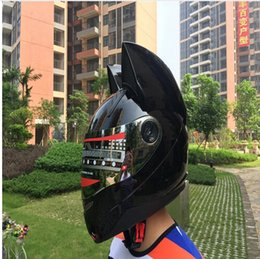 Wholesale Helmet Motorcycle Yellow - Motorcycle in the summer seasons men and women anti-fog helmet's cross-country car horns fashion cat ears helmet