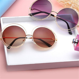 Wholesale Trend Glasses Styles - Europe Style trend Adumbral Sunglasses Men Women Metal WrapEyeglasses Round Shades Sun glasses Mirror High Quality UV400