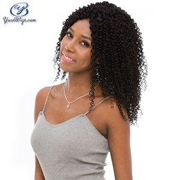 Wholesale Curly Hair Front Lace Price - Top Grade Full Lace Virgin Wigs New Arrived Pure Color Kinky Curly Factory Price For Black Woman Wig Swiss Lace Top Curly