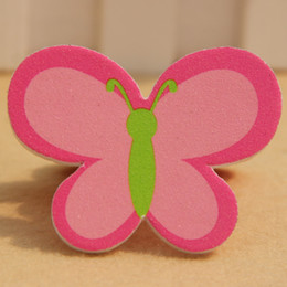 Wholesale Cute Files - Wholesale- MOONBIFFY 1pcs New Durable Cute Butterfly Nail Art Buffer Files Pro File Makeup Beauty Tools
