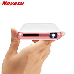 Wholesale smartphone hdmi - Wholesale- Noyazu 5000 mah Battery Mini pocket projector dlp wifi portable Handheld smartphone Projector Android Bluetooth pocket BEAMER