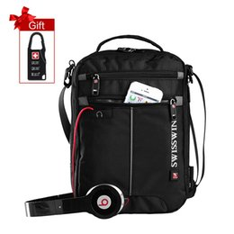 Wholesale Ipad Flap - Wholesale- Fashion Messenger Shoulder Bag 11 inch Ipad Bag Black handy crossbody bag for students Casual Oxford Messenger Satchel