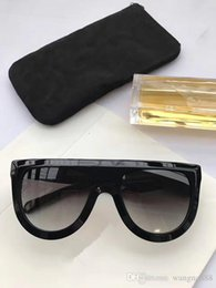 Wholesale Leopard Model - new luxury women brand designer sunglasses CE41398 audrey goggle sunglasses wrap design unisex model big frame leopard double color frame