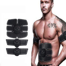 Wholesale Arm Padding - Electric EMS Stimulator Abdominal Trainer Muscle Toner Abdominal Arm Muscles Abs Body Pad Sculpting Exercise Machine Smart Fitness Massager