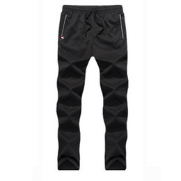 Wholesale Wholesale Pants For Men - Wholesale- M-6XL Plus Size Pant For Men Long Trousers 2017 New Spring Autumn Loose Casual Joggers Men Sweatpants Tracksuit Pocket DP807656