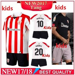 Wholesale Boys Athletic Shorts - Kids kits 2017 2018 Athletic Bilbao Soccer jersey 17 18 child youth Home ADURIZ GURPEGUI MUNIAIN jerseys shirt