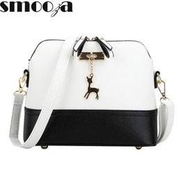 Wholesale Branded Handbags For Girls - Wholesale- SMOOZA hot Women's Handbags Fashion Shell Bag Leather Women Messenger Bags Girls for Shoulder Bags Decorative Deer Branded Bag