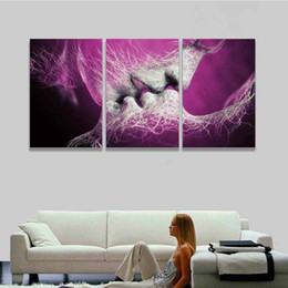 Wholesale Tree Couple Art - Canvas Art Prints Artistic Tree Love Couples Kiss Painting Modern Wall Picture for Home Decor Living Room Bedroom Valentine Gift