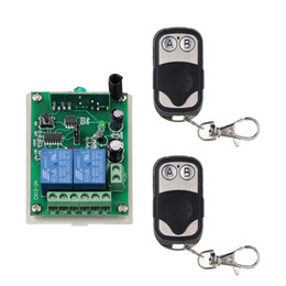 Wholesale 12v Metal Switch - DC 12V 24V 2 CH 2CH RF Wireless Remote Control Switch System,315 433.92 MHZ (2X Metal Frame Transmitters +1 Receiver),Momentary